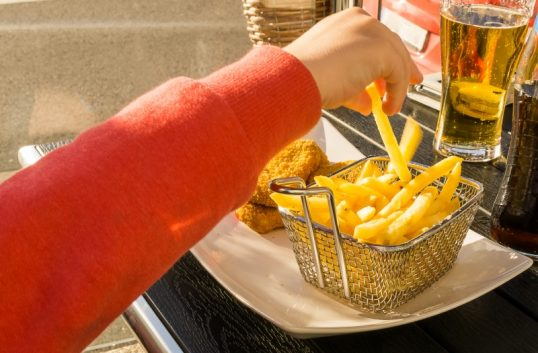 17 procent av kalorierna från skräp