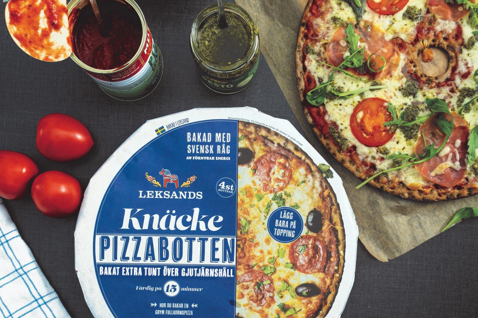 Leksands knäckebröd lanserar pizzabotten