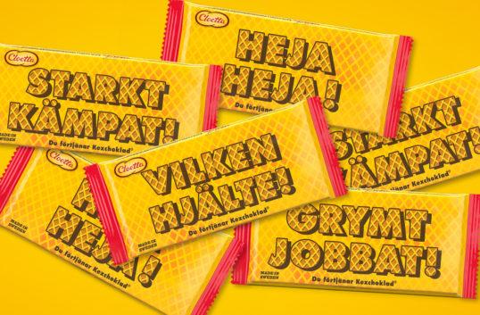 Kexchoklad marknadsför med budskap även i år