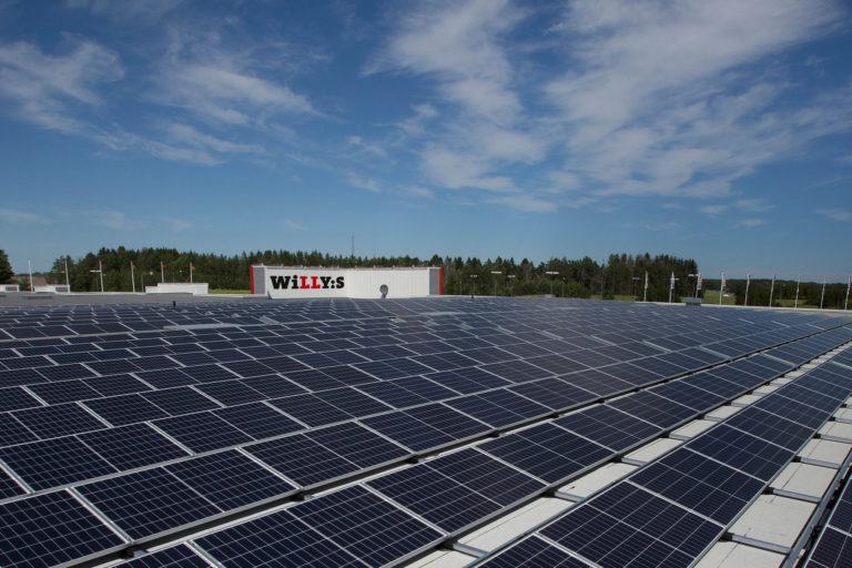 Solceller till tre nya Willys-butiker på gång