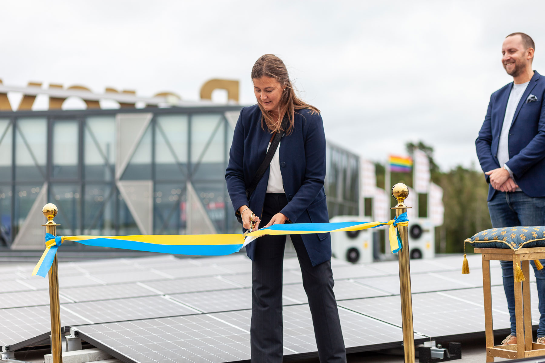 Solcellsanläggning invigd på Bergvik