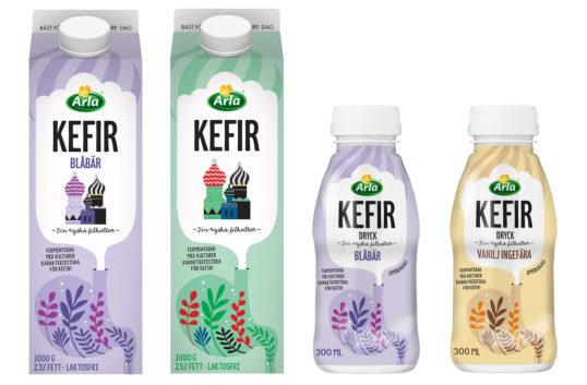 Kefir med nytt recept och två nya smaker