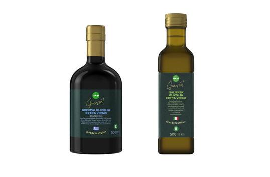 Coop lanserar olivolja under premiumkoncept