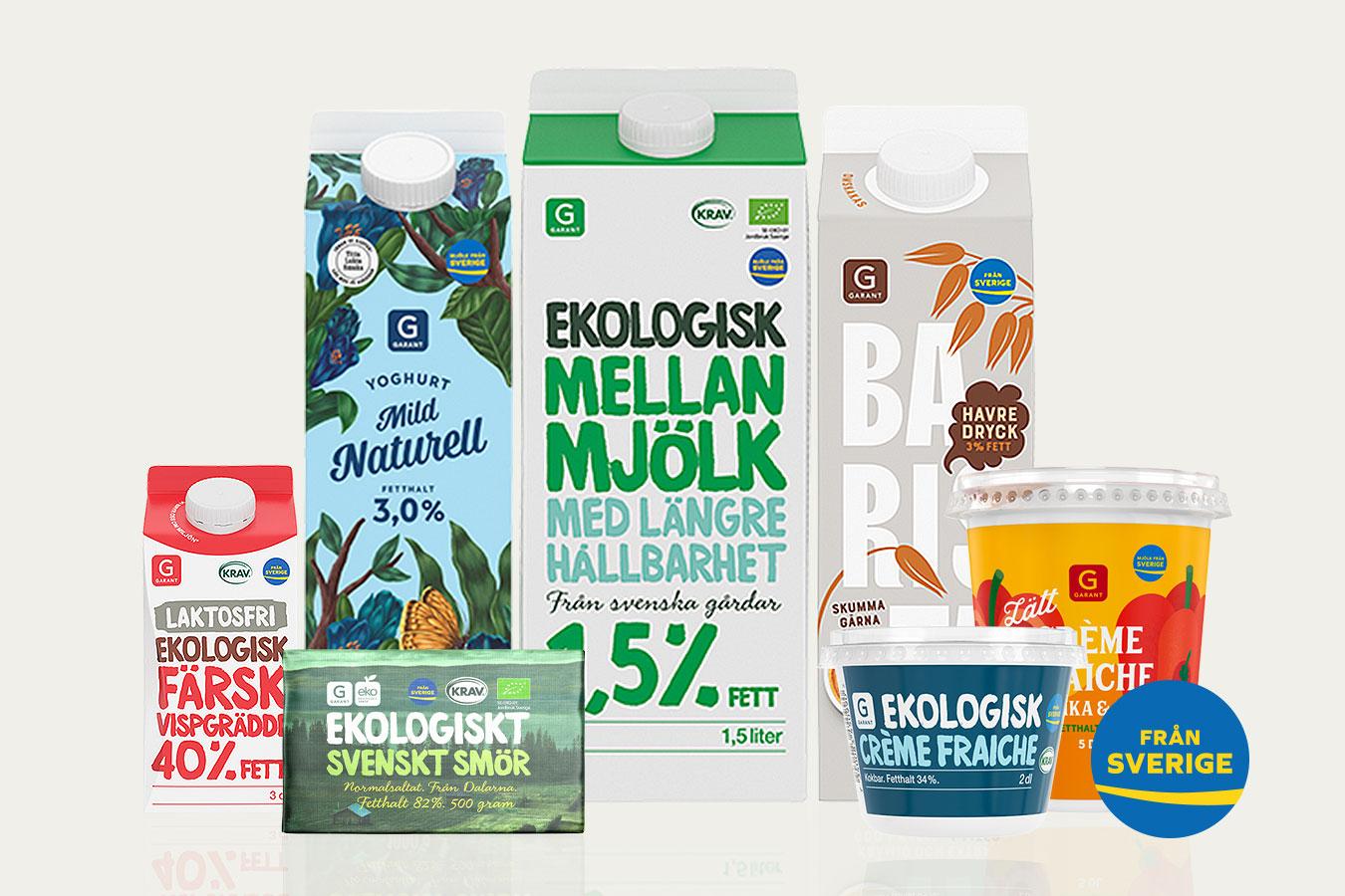 Garants mejerivaror nu helt svenskmärkta